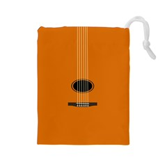 Minimalism Art Simple Guitar Drawstring Pouches (large)  by Mariart