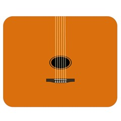 Minimalism Art Simple Guitar Double Sided Flano Blanket (medium)  by Mariart