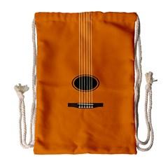 Minimalism Art Simple Guitar Drawstring Bag (large) by Mariart