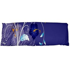 Flowers Butterflies Patterns Lines Purple Body Pillow Case Dakimakura (two Sides) by Mariart