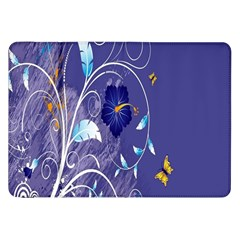 Flowers Butterflies Patterns Lines Purple Samsung Galaxy Tab 8 9  P7300 Flip Case by Mariart