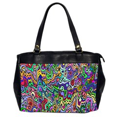 Colorful Abstract Paint Rainbow Office Handbags (2 Sides)  by Mariart