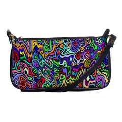 Colorful Abstract Paint Rainbow Shoulder Clutch Bags by Mariart
