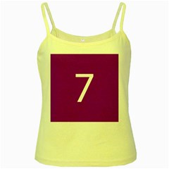 Number 7 Purple Yellow Spaghetti Tank by Mariart