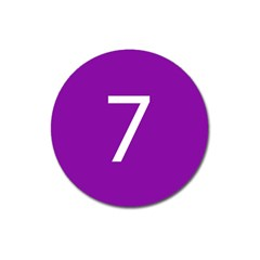 Number 7 Purple Magnet 3  (round) by Mariart