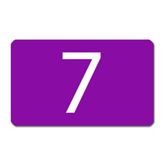 Number 7 Purple Magnet (rectangular) by Mariart
