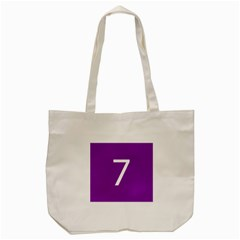 Number 7 Purple Tote Bag (cream) by Mariart
