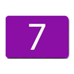 Number 7 Purple Small Doormat  by Mariart