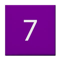 Number 7 Purple Face Towel by Mariart