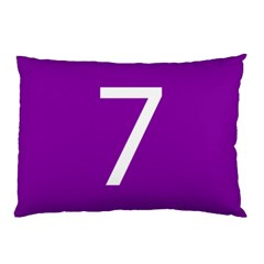 Number 7 Purple Pillow Case by Mariart