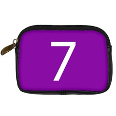 Number 7 Purple Digital Camera Cases by Mariart