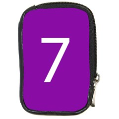 Number 7 Purple Compact Camera Cases by Mariart