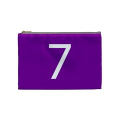 Number 7 Purple Cosmetic Bag (medium)  by Mariart