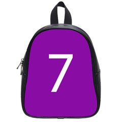 Number 7 Purple School Bags (small)  by Mariart