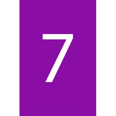 Number 7 Purple 5 5  X 8 5  Notebooks by Mariart