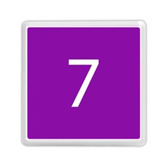 Number 7 Purple Memory Card Reader (square)  by Mariart