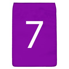 Number 7 Purple Flap Covers (l)  by Mariart