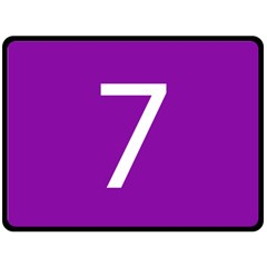 Number 7 Purple Double Sided Fleece Blanket (large)  by Mariart