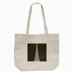 Minimalist Stairs White Grey Tote Bag (cream) by Mariart