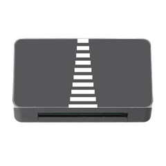 Minimalist Stairs White Grey Memory Card Reader With Cf by Mariart