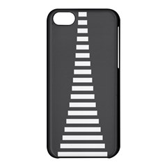 Minimalist Stairs White Grey Apple Iphone 5c Hardshell Case by Mariart