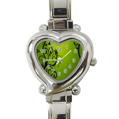 Illustration Wallpaper Barbusak Leaf Green Heart Italian Charm Watch by Mariart