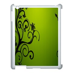 Illustration Wallpaper Barbusak Leaf Green Apple Ipad 3/4 Case (white) by Mariart