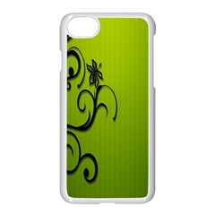 Illustration Wallpaper Barbusak Leaf Green Apple Iphone 7 Seamless Case (white) by Mariart