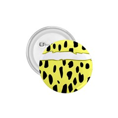 Leopard Polka Dot Yellow Black 1 75  Buttons by Mariart