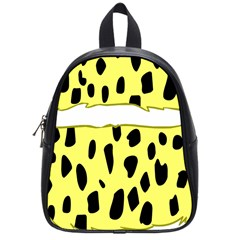 Leopard Polka Dot Yellow Black School Bags (small)  by Mariart