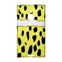 Leopard Polka Dot Yellow Black Nokia Lumia 1520 by Mariart