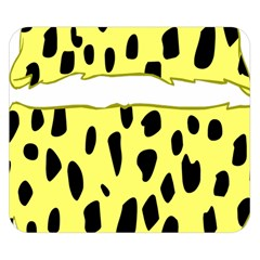 Leopard Polka Dot Yellow Black Double Sided Flano Blanket (small)  by Mariart