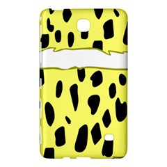 Leopard Polka Dot Yellow Black Samsung Galaxy Tab 4 (8 ) Hardshell Case  by Mariart