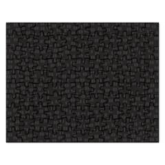 Oklahoma Circle Black Glitter Effect Rectangular Jigsaw Puzzl by Mariart