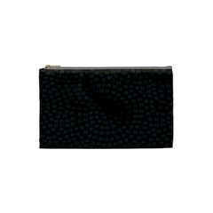 Oklahoma Circle Black Glitter Effect Cosmetic Bag (small)  by Mariart
