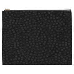 Oklahoma Circle Black Glitter Effect Cosmetic Bag (xxxl)  by Mariart