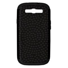 Oklahoma Circle Black Glitter Effect Samsung Galaxy S Iii Hardshell Case (pc+silicone) by Mariart
