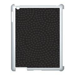 Oklahoma Circle Black Glitter Effect Apple iPad 3/4 Case (White) by Mariart