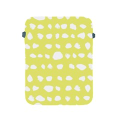 Polkadot White Yellow Apple Ipad 2/3/4 Protective Soft Cases by Mariart