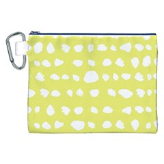Polkadot White Yellow Canvas Cosmetic Bag (xxl) by Mariart