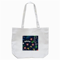 Origami Flower Floral Star Leaf Tote Bag (white) by Mariart
