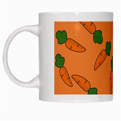 Carrot Pattern White Mugs by Valentinaart