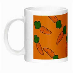 Carrot Pattern Night Luminous Mugs by Valentinaart