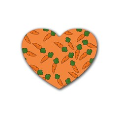 Carrot Pattern Heart Coaster (4 Pack)  by Valentinaart