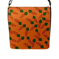 Carrot Pattern Flap Messenger Bag (l)  by Valentinaart
