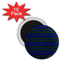Split Diamond Blue Green Woven Fabric 1 75  Magnets (10 Pack)  by Mariart