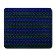 Split Diamond Blue Green Woven Fabric Large Mousepads by Mariart