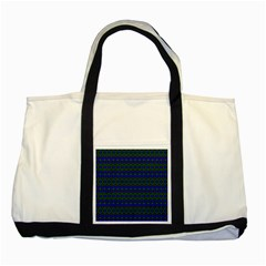 Split Diamond Blue Green Woven Fabric Two Tone Tote Bag by Mariart