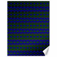 Split Diamond Blue Green Woven Fabric Canvas 18  X 24   by Mariart