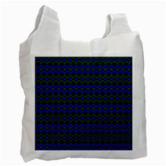 Split Diamond Blue Green Woven Fabric Recycle Bag (one Side) by Mariart